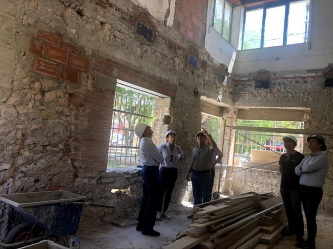 Las obras del antiguo edificio de Protección Civil consolidan su estructura