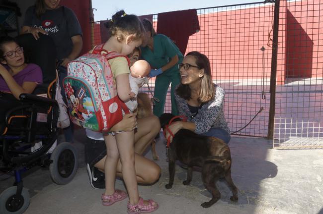 Niños con diversidad funcional de ANDA participan en un taller con animales