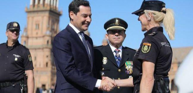 Moreno quiere 123 policías autonómicos más y una sede en Almería