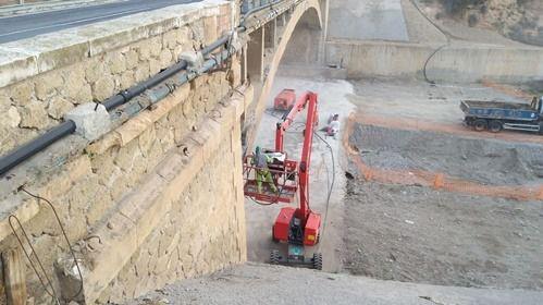 Afecciones al tráfico en la N-340A por reparación del Puente del Río en Adra