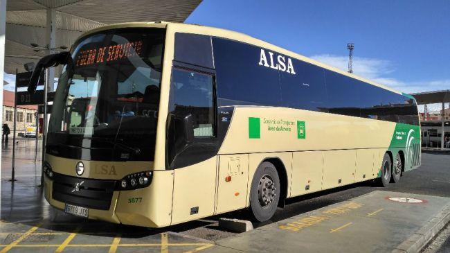 La ocupación de los autobuses baja en torno al 95%