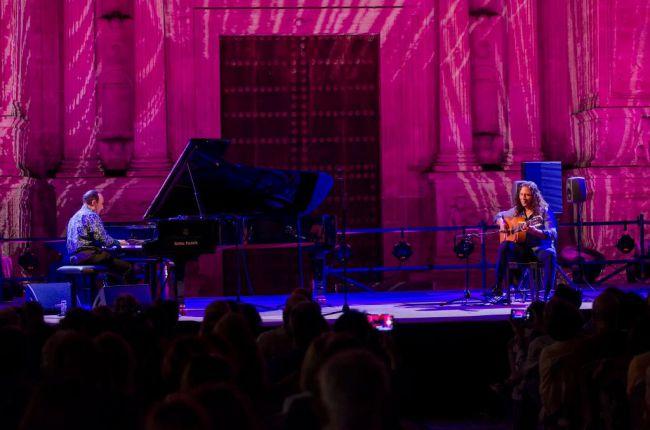 María Carricondo en un un festival de flamenco online a beneficio de Cruz Roja
