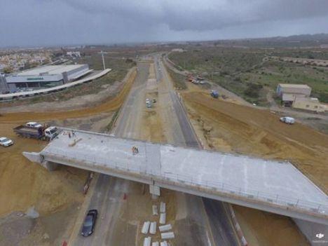 Reordenación del tráfico en las obras de la carretera Vera-Garrucha