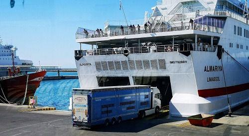 El tráfico de mercancía ro-ro creció un 20% en el Puerto de Almería entre enero y marzo