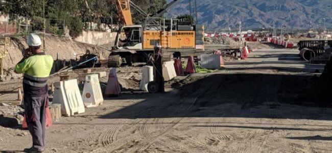 El soterramiento en El Puche aún tiene pediente el 30% de la obra