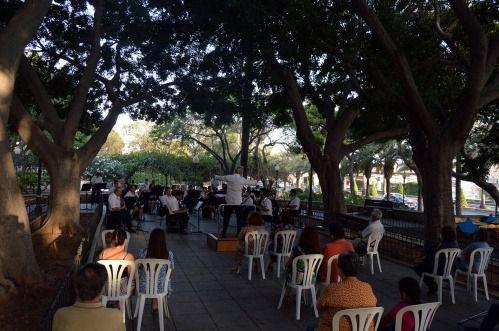Plaza de La Cañada y Anfiteatro de la Rambla, nuevos conciertos de la Banda Municipal