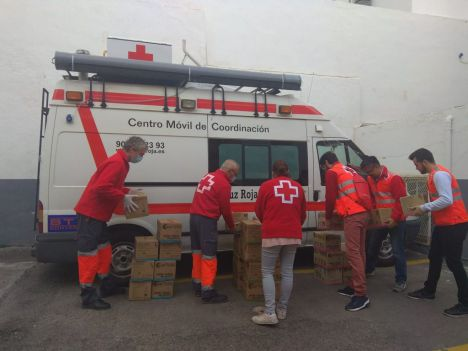 Cruz Roja atiende a unas 200 personas en los dos últimos días