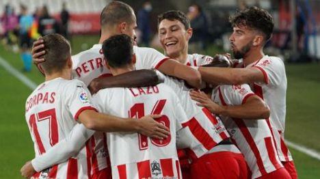 1-4: La victoria del Almería ante el CE L'Hospitalet lo mete en Copa del Rey