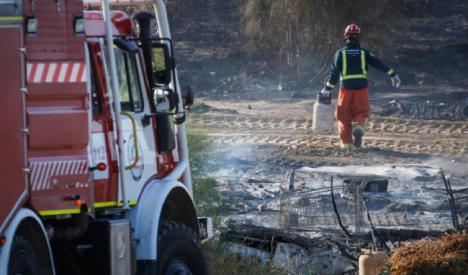 El incendio en un asentamiento ilegal de Níjar ha sido intencionado