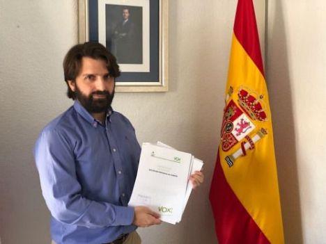 Vox saca en Diputación adelante una moción en defensa de la cruz pero con críticas de todos los grupos