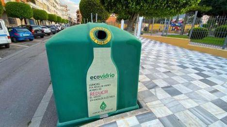 Adra recicla 53.000 kilos de vidrio en el primer trimestre del año 2021