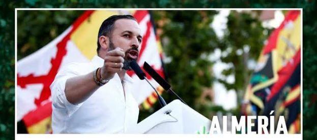 Abascal miente sobre los datos electorales de Vox en Almería