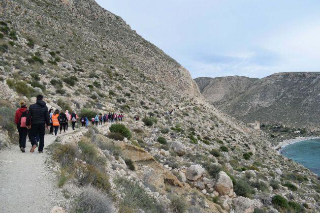 Senderismo al Barranco del Colorado y al Camino Viejo de Aguadulce