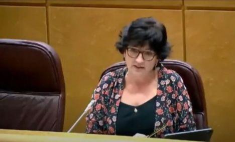 La senadora andalucista pide el desbloqueo de los tramos del Corredor entre Almería, Murcia y Granada