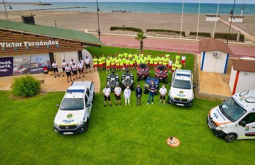 El servicio de playas de El Ejido hizo 2.102 asistencias este verano
