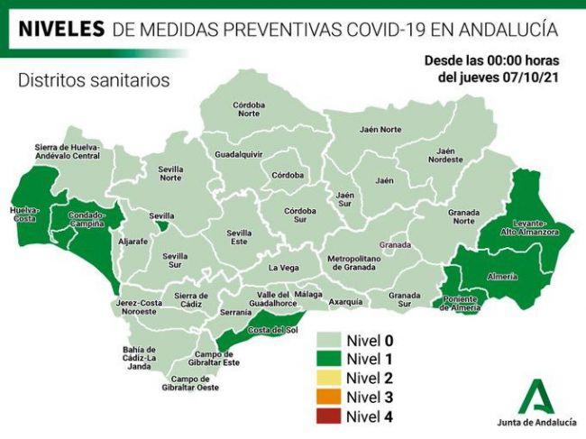 Casi medio centenar de contagios en Almería por covid-19