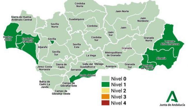 Almería es la única provincia andaluza por encima de 50 casos de incidencia