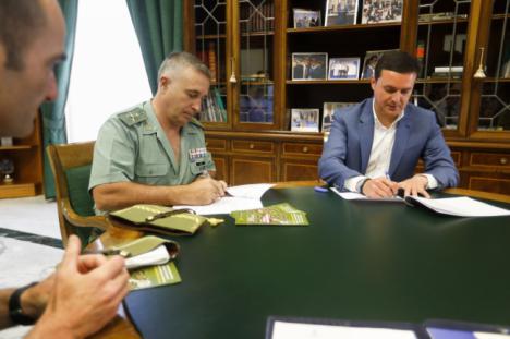 Diputación y las Fuerzas Armadas colaboran en la prevención de drogodependencias