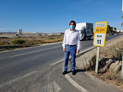 Cs reclama a Diputación más seguridad en la carretera AL-3111 entre San Isidro y Campohermoso