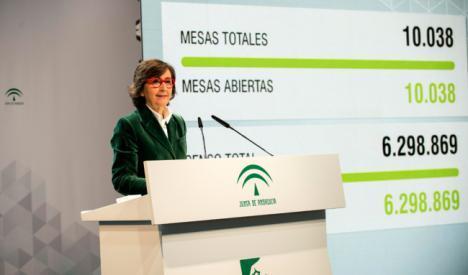La participación en Almería es un poco superior a la media andaluza