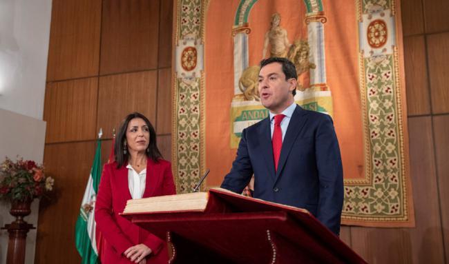Moreno: 'Asumo la responsabilidad de construir una nueva etapa de ilusión para Andalucía'
