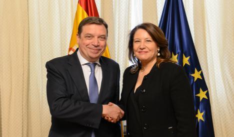 Crespo se reúne en Madrid con el ministro de Agricultura, Pesca y Alimentación