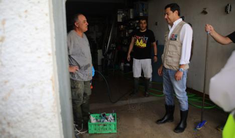 Juanma Moreno vista el lunes zonas afectadas por DANA en Almería