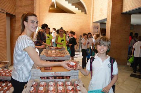 Escolares de once colegios aprenden a comer más sano