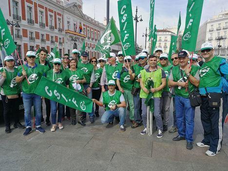CSIF Almería fleta un autobús a Madrid para reclamar el anticipo de la jubilación de la Policía Local