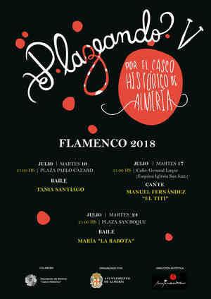 La bailaora Tania Santiago primera cita con Plazeando