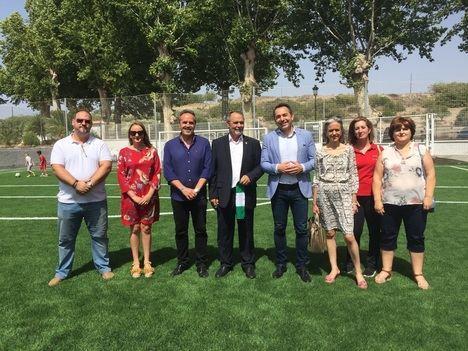 Acabado el campo de fútbol de Armuña que contó con una subvención de la Junta de más de 55.000 euros