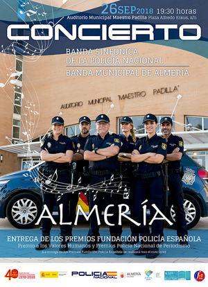 Concierto gratuito de la Banda Municipal y la Banda Sinfónica de la Policía Nacional