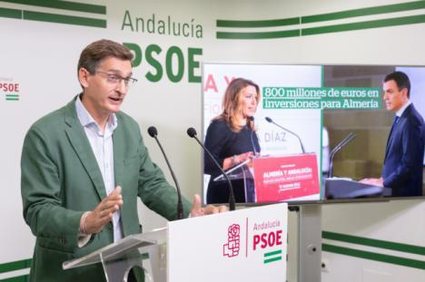 El día en que Díaz convoca elecciones el PSOE valora en 800 los millones recibidos por Almería