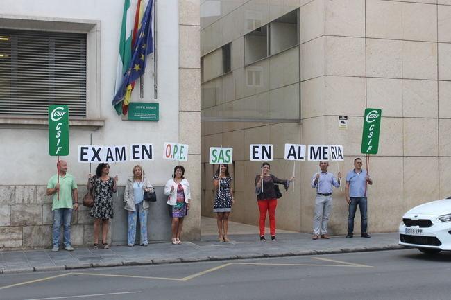 CSIF exige al SAS la realización de los exámenes de las oposiciones en Almería