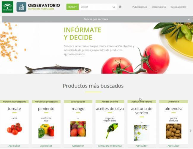 Agricultura, Pesca y Desarrollo Rural renueva el diseño de la web del Observatorio de Precios