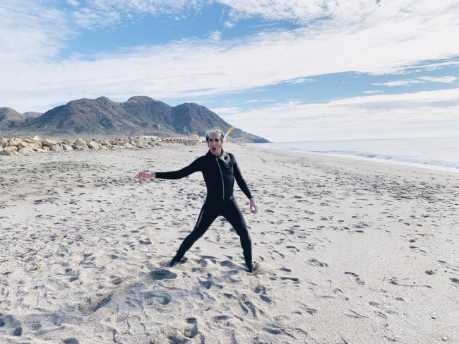 Mario Vaquerizo alaba las playas, clima y cocina de Almería