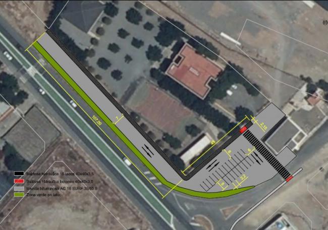 El Ayuntamiento mejorará del entorno y el acceso del colegio Punta Entinas de Pampanico