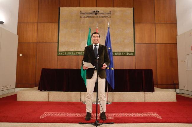 Moreno será presidente tras confirmarse el apoyo de Ciudadanos y de Vox