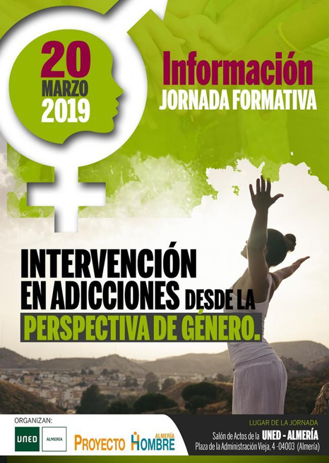 'Intervención en Adicciones desde la Perspectiva de Género', jornada de UNED Almería y Proyecto Hombre