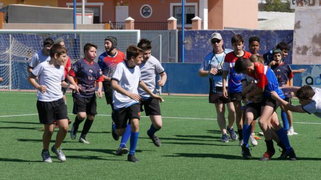 El Estadio Miramar de Adra recibe casi 130 jugadores de rugby