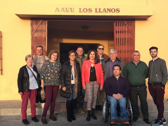 El PSOE toma nota de las necesidades urgentes de Loma Cabrera