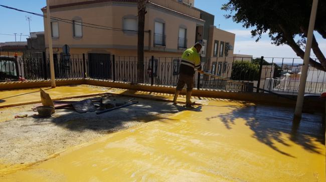 Comienzan en Adra las obras del nuevo parque de Plaza Estudiantes