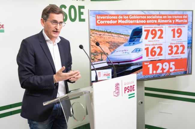 El PSOE pone en valor los 1.295 millones de euros para el AVE comprometidos para Almería