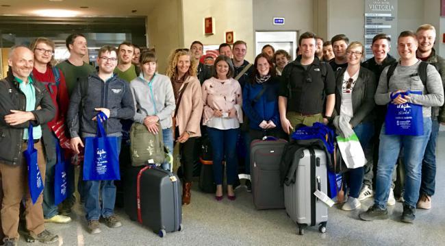 Visita de grupo de estudiantes alemanes a El Ejido
