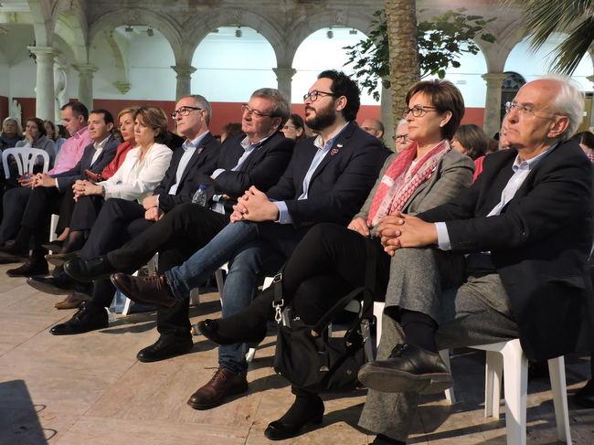 Tres candidatos socialistas recuerdan los dos campos de concentración que hubo en Almería