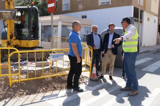 A buen ritmo los trabajos de ampliación de las pluviales de Balerma