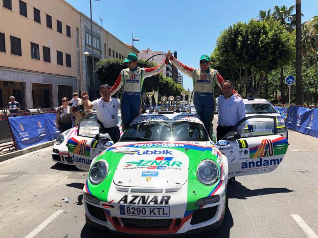 José Antonio Aznar y José Crisanto, ganadores del XLIV Rallye Costa de Almería