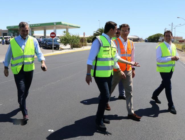 A buen ritmo las obras de la carretera que une San Agustín y Las Norias