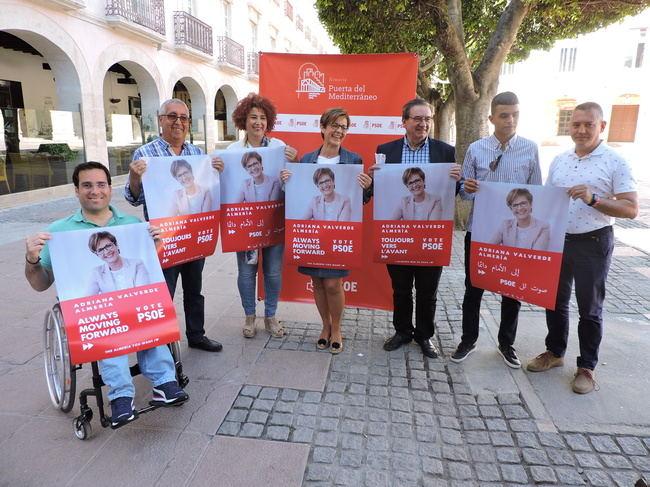 Valverde también pide el voto en inglés, árabe y francés