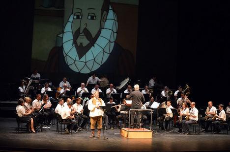 'El Quijote de la Banda' divierte y enseña al público familiar en la matinal del Auditorio